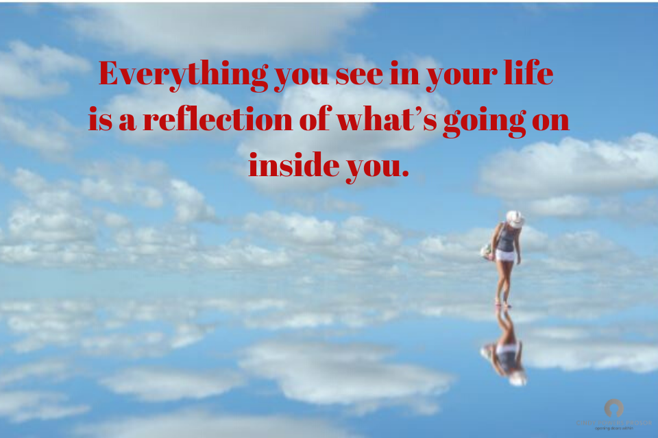 Everything you see in your life is a reflection of what's going on inside you. Red